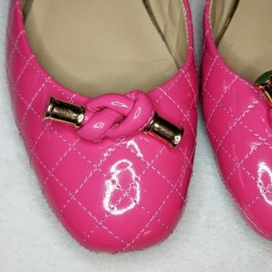 Lilly Pulitzer Shoes - Lilly Pulitzer Pink Quilted Patent Leather Flat 6